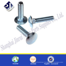 Zinc finished m4 carriage bolt flat head carriage bolt carriage bolt washer